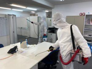 ウイルス除菌作業